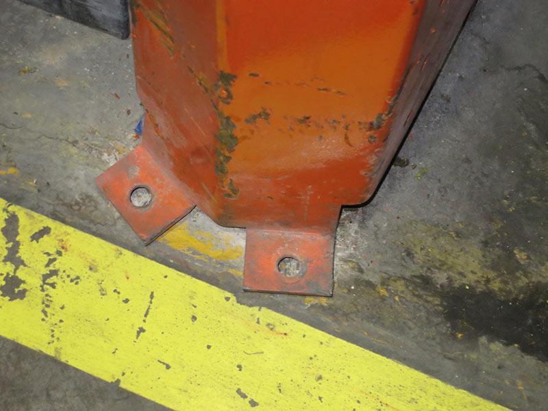 Daño protector puntal estantería regulable paletas