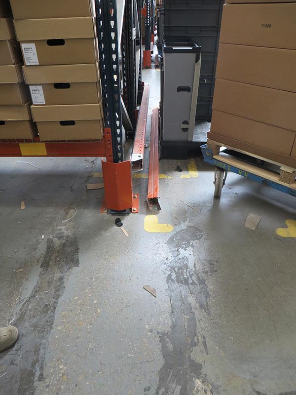 Daño protección bastidor estantería regulable paletas